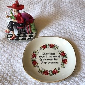 Falcon Ware Porcelain Plate with Quote